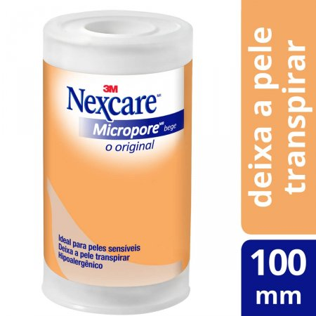 Fita Micropore Nexcare Bege 100mmx4,5m