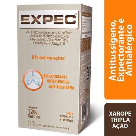 Expec Xarope Sabor Framboesa e Caramelo com 120ml