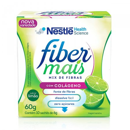 Regulador Intestinal FiberMais Colágeno Mix de Fibras Limão 60g