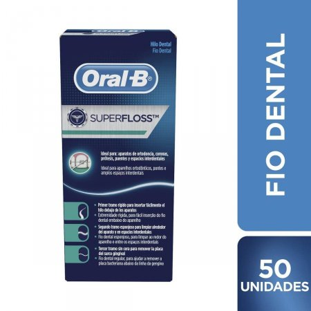 Fio Dental Oral-B Superfloss 50 Unidades