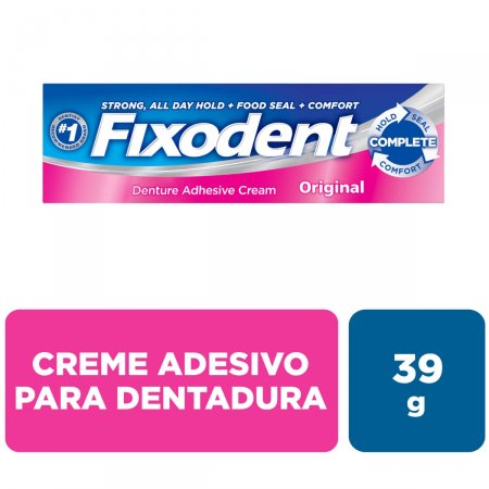 Creme Fixador de Dentadura Fixodent Original 39g Foto 2