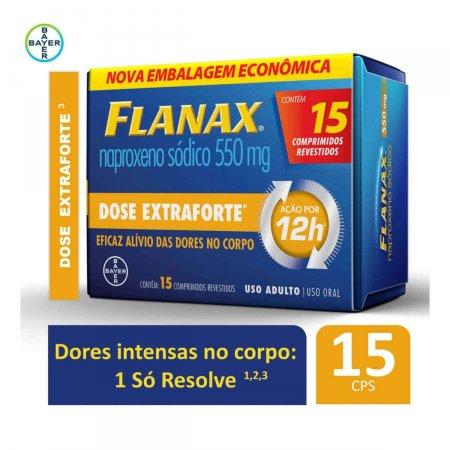 Flanax 550mg Dose Extraforte com 15 Comprimidos