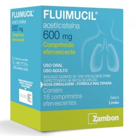 Fluimucil Efev 600mg Sabor Limão 16 Coprimidos Efervescentes