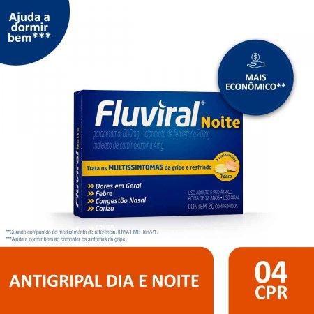 Fluviral Noite com 20 Comprimidos