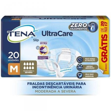 Fralda Geriátrica Tena Slip UltraCare M com 20 unidades