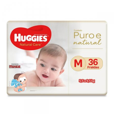 Fralda Huggies Natural Care Tamanho M