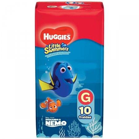 Fralda Huggies Little Swimmers Tamanho G 10 Tiras |