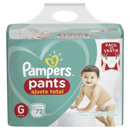 Fralda Pampers Pants Ajuste Total G com 72 unidades