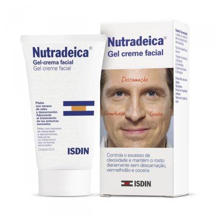 Gel Creme Facial Nutradeica Isdin Pele Descamativa com 50ml