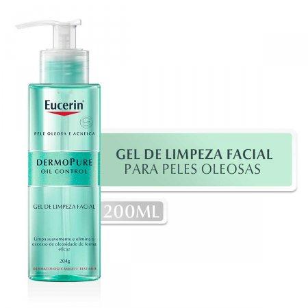 Gel de Limpeza Facial Eucerin DermoPure Oil Control com 200ml