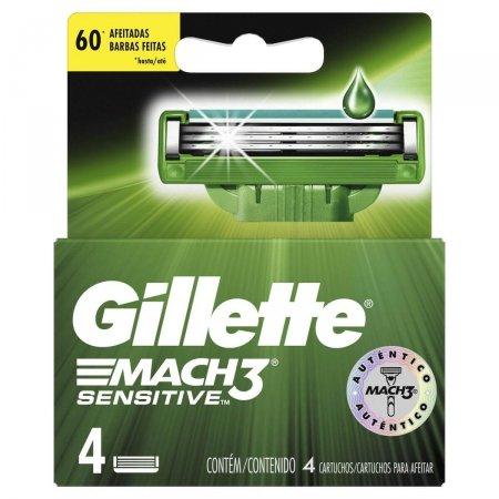 Refil Gillette Mach3 Sensitive c/4 unidades