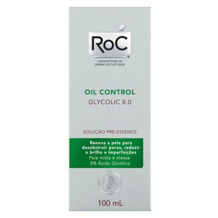 Solução Facial para Pele Mista e Oleosa Roc Oil Control Glycolic 8.0 com 100ml