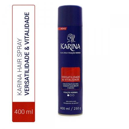 Hair Spray Karina Versatilidade & Vitalidade Fixação Normal