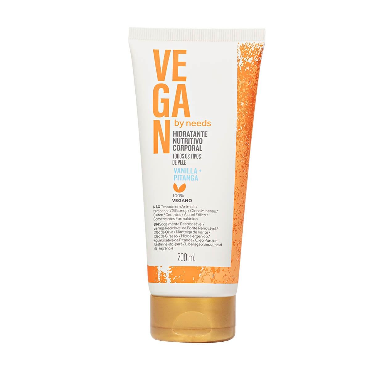 Hidratante Corporal Vegan by Needs Vanilla + Pitanga 200ml