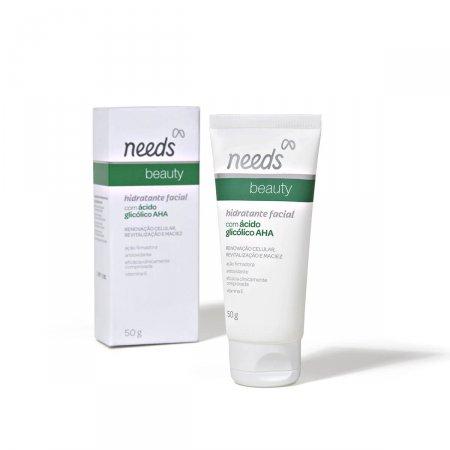 Hidratante Facial Needs Beauty com Ácido Glicólico AHA com 50g