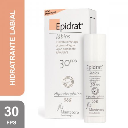 Hidratante Labial Epidrat Lábios Mantecorp FPS 30 com 5,5g