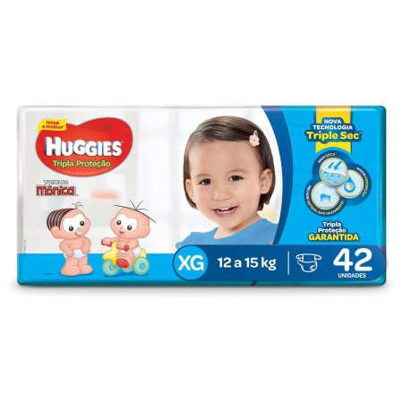 Fralda Huggies Tripla Proteção Tamanho XG