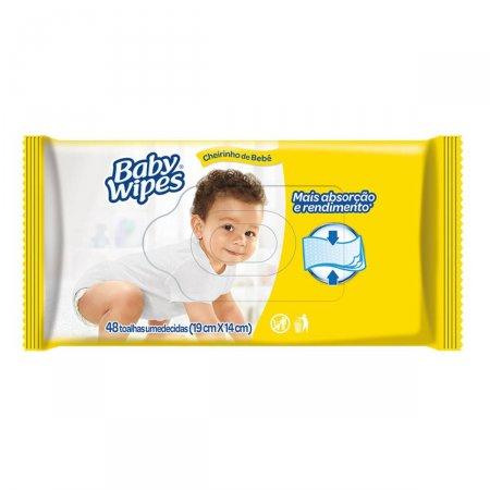 Lenços Umedecidos Huggies Baby Wipes com 48 unidades