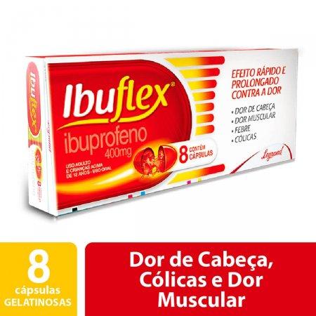 Ibuflex 400mg com 8 cápsulas