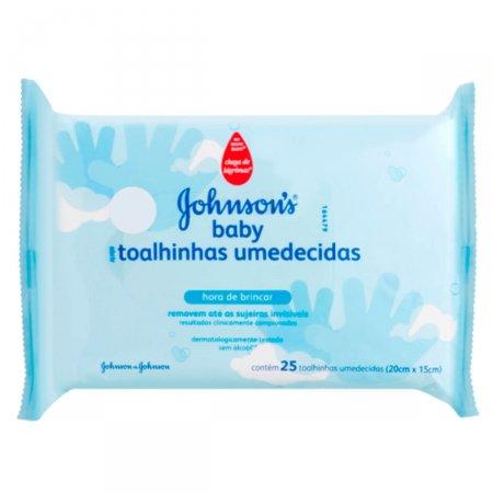 Toalhinhas Umedecidas Johnson's Baby Hora de Brincar 25 Unidades