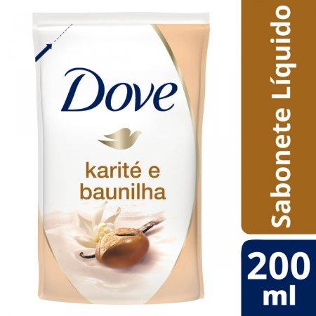 Refil Sabonete Líquido Dove Kareté e Baunilha 200ml