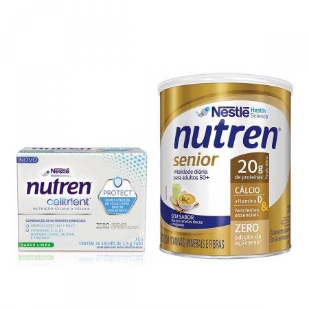 Kit Nutren Senior Sem Sabor + Celltrient