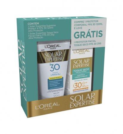 Kit Protetor Solar L'Oréal Expertise Supreme Protect 4 FPS30 + Protetor Solar Facial Antirrugas FPS30