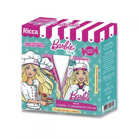 Kit Ricca Barbie Chef Shampoo 250ml + Condicionador 250ml