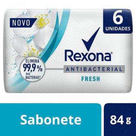 Kit Sabonete em Barra Rexona Antibacterial Fresh