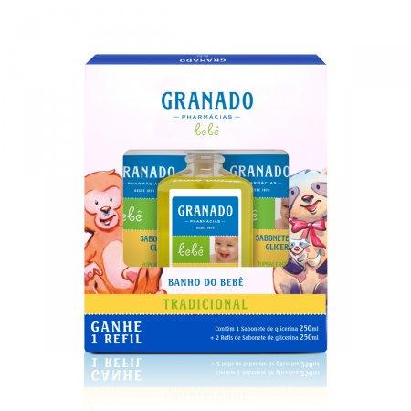 Kit Bebê Granado Sabonete Liquido de Glicerina + 2 Refis