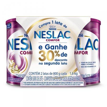 Kit Composto Lácteo Neslac Comfor 2 Unidades