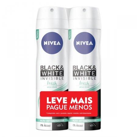 Kit Desodorante Aerossol Nivea Black & White Fresh Feminino