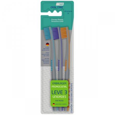 Escova de Dente Needs Sensitive 6240 com 3 Unidades