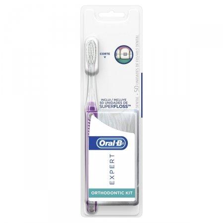 Kit Escova Dental Oral-B Expert Ortodôntica + Fio Dental Superfloss
