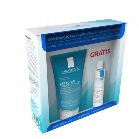 Kit Gel de Limpeza Effaclar Concentrado + Solução Micelar Ultra