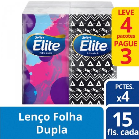 Kit Lenço Elite Sofyt's 15 Unidades Leve 4 Pague 3
