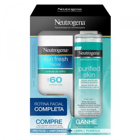 Kit Neutrogena Sun Fresh FPS 60 com Cor + Água Micelar Purified Skin