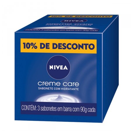 Kit Sabonete Barra Nivea Creme Care