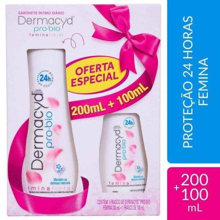 Kit Sabonete Líquido Íntimo Dermacyd Femina com 200ml + 100ml