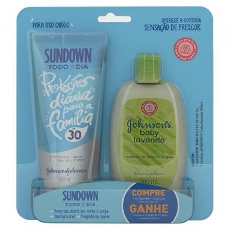 Kit Protetor Solar Todo Dia Sundown FPS30 + Colônia Infantil Lavanda