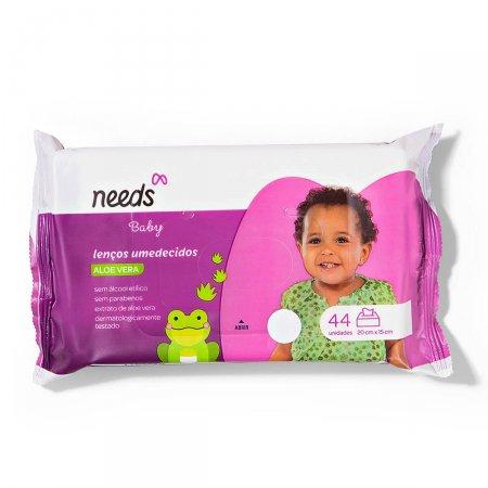 Lenço Umedecido Needs Baby Aloe Vera 44 Unidades |
