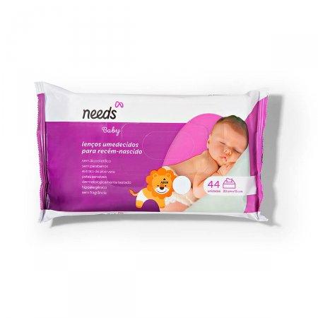Lenço Umedecido Needs Baby Recém-Nascido 44 Unidades |
