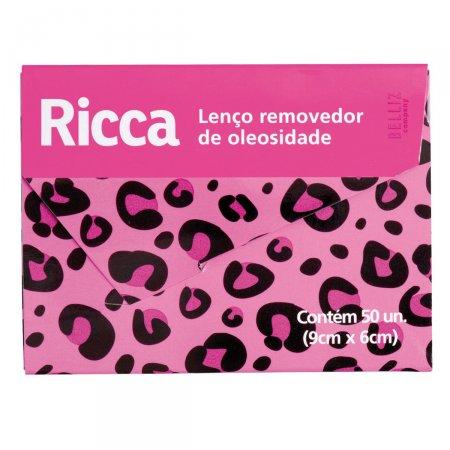 Lenço Facial Ricca Removedor de Oleosidade 50 Unidades Ref.3716
