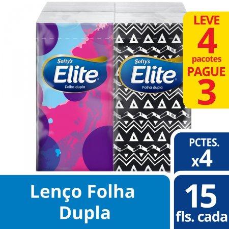 Kit Lenços de Papel de Bolso Elite Softy's