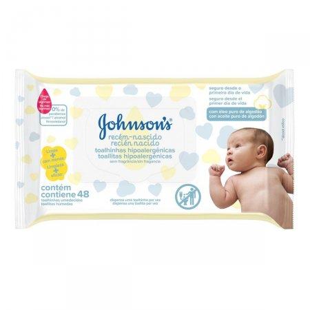Lenço Umedecido Johnson's Baby Recém-Nascido sem Fragrância