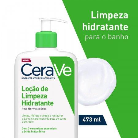 Loção de Limpeza Hidratante Para o Banho CeraVe Pele Normal a Seca com 473ml