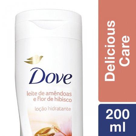 Loção Hidratante Dove Delicious Care Leite de Amêndoas e Flor de Hibiscos
