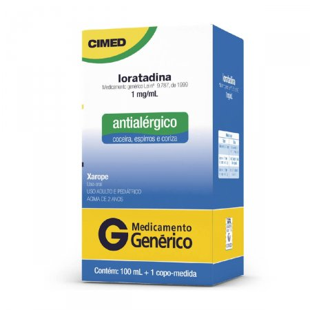 Loratadina 1mg Xarope 100ml Cimed Genérico