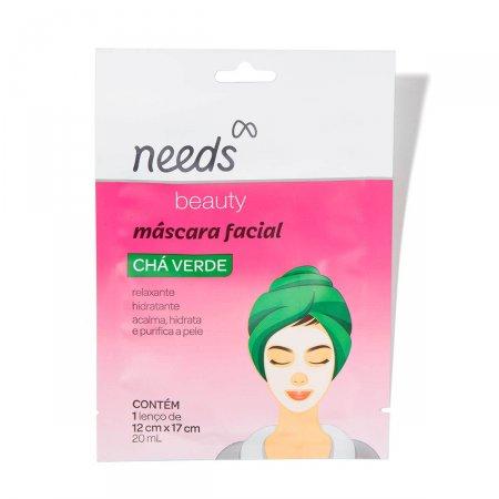 Máscara Facial de Chá Verde Needs Beauty com 1 unidade