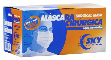 Máscara Cirurgica Descartável Tripla Elástico